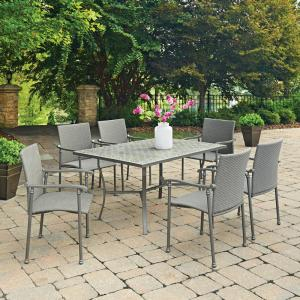 Home Styles Umbria 7-Piece Concrete Outdoor Dining Set by Home Styles