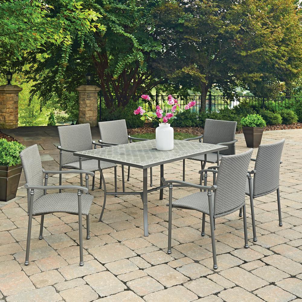 Umbria 7-Piece Concrete Outdoor Dining Set