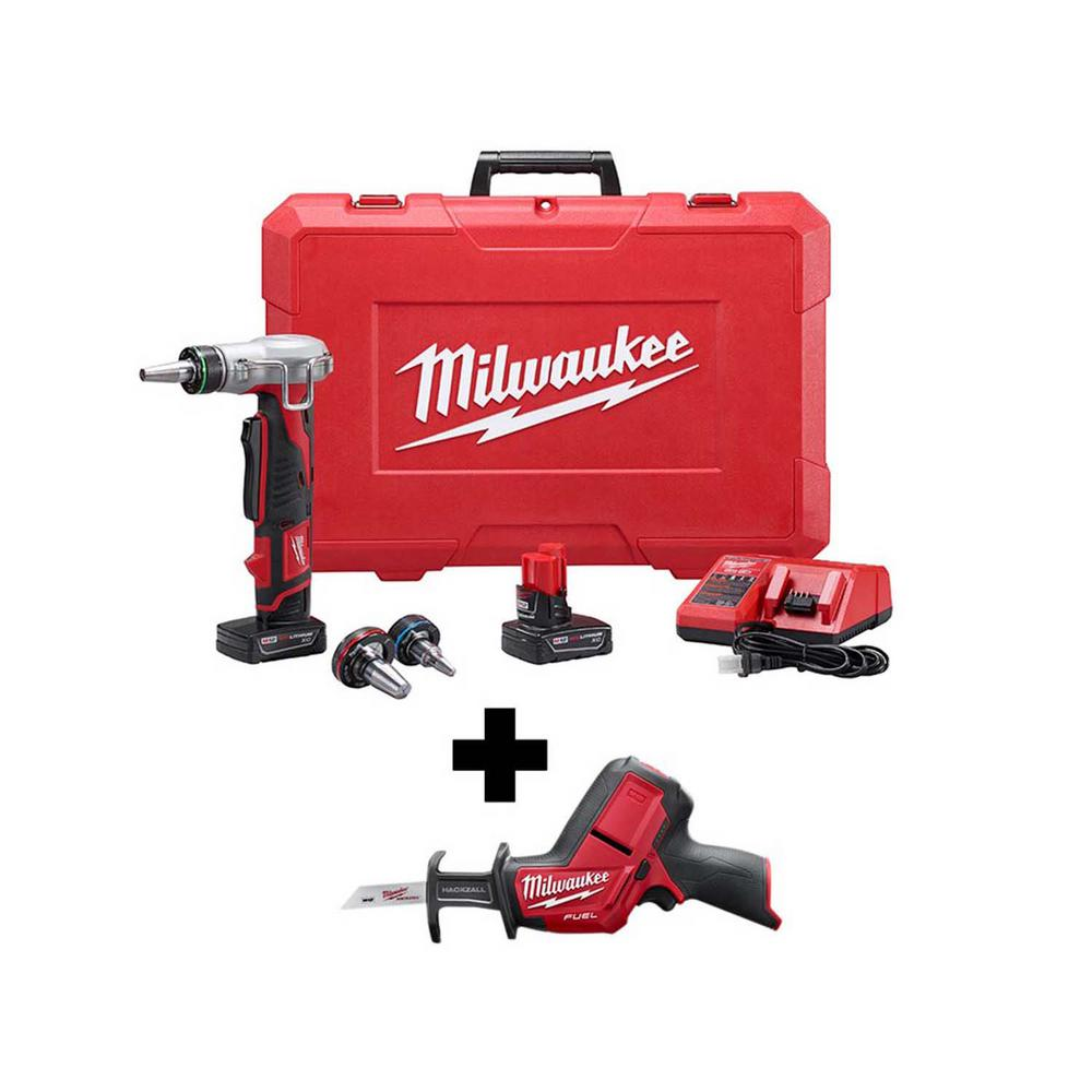 Milwaukee M12 12-Volt Lithium-Ion Cordless PROPEX Expansion Tool Kit with Free M12 FUEL HACKZALL Reciprocating Saw was $628.0 now $431.1 (31.0% off)