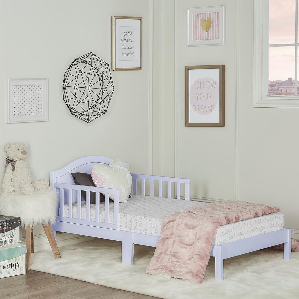 Dream On Me Sydney Lavender Toddler Adjule Bed 647 Li The Home Depot