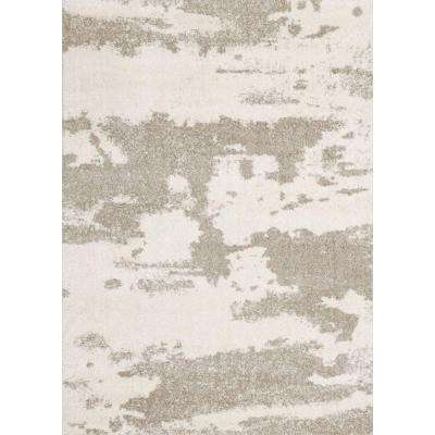 Alberto White/Beige 5 ft. x 7 ft. Indoor Area Rug