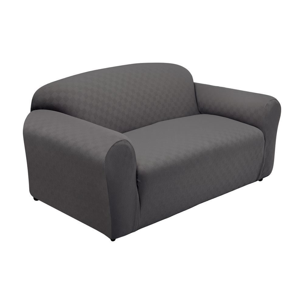StretchSensations Stretch Sensations Grey Newport Sofa Stretch Slipcover