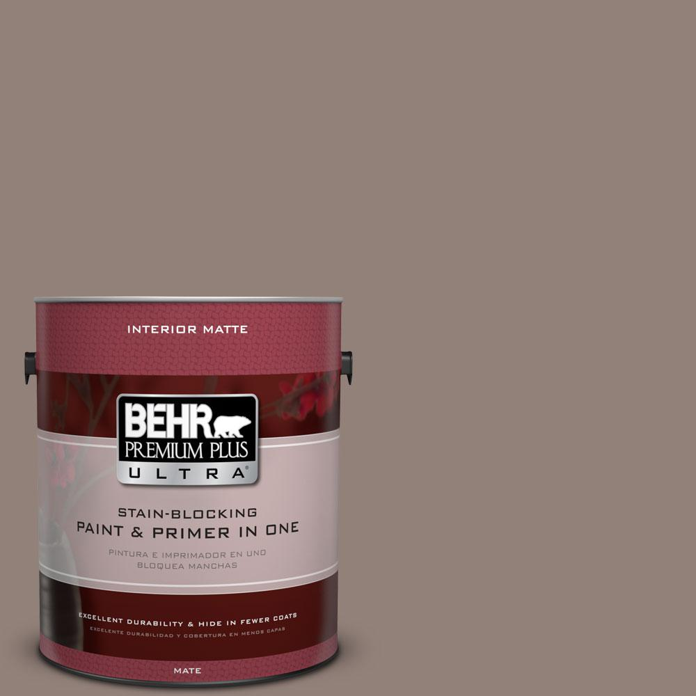 1 gal. #BNC-22 Chocolate Chiffon Matte Interior Paint