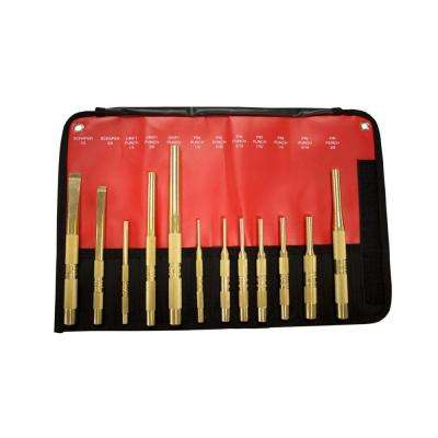 Brass Punch and Chisel Set (12-Piece)