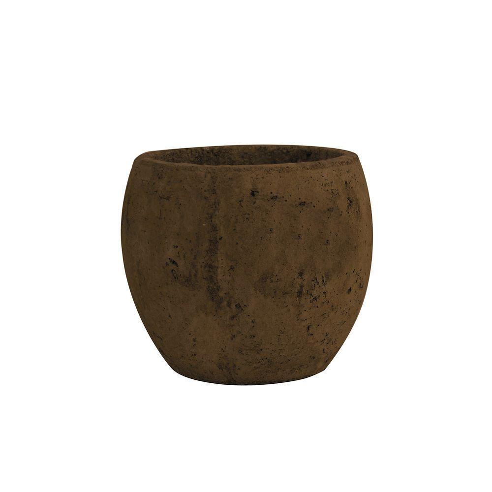 5-3/4 in. Round Cement Pot