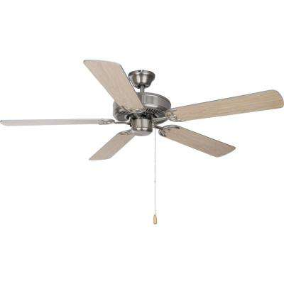 Basic-Max 52 in. Silver/Maple Blades Ceiling Fan