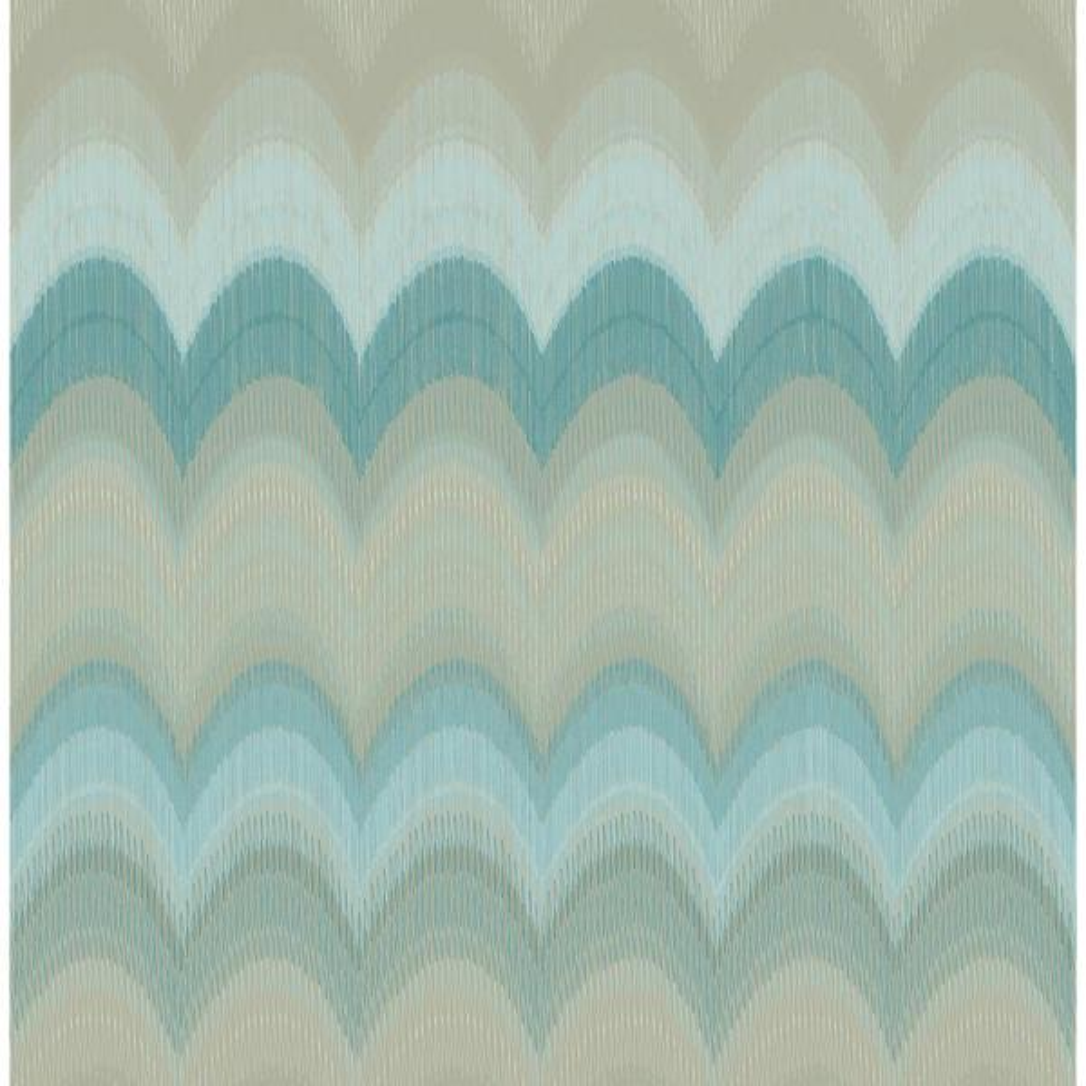 Kenneth James August Teal Wave Wallpaper 2671-22408