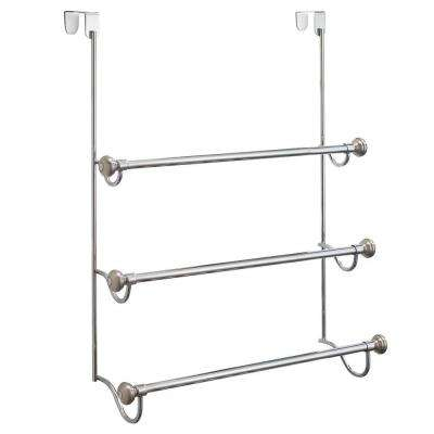York Metal Over Shower Door 3-Bar Towel Rack in Split