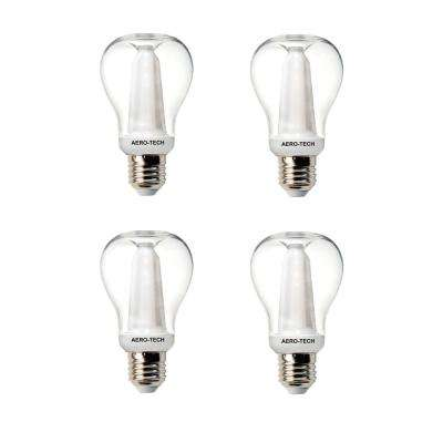 40-Watt Equivalent A15 30,000 Hours Clear LED Light Bulb Bright White (4-Pack)
