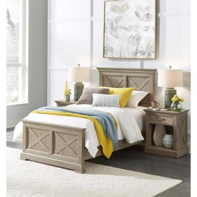 Mountain Lodge 2-Piece Gray Twin Bedroom Set