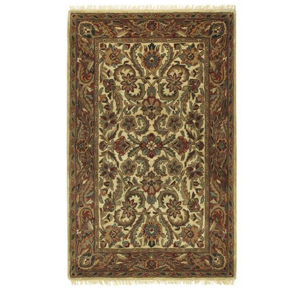 Home decorators collection chantilly beige rust 5 ft 3 in for Home decorators rugs