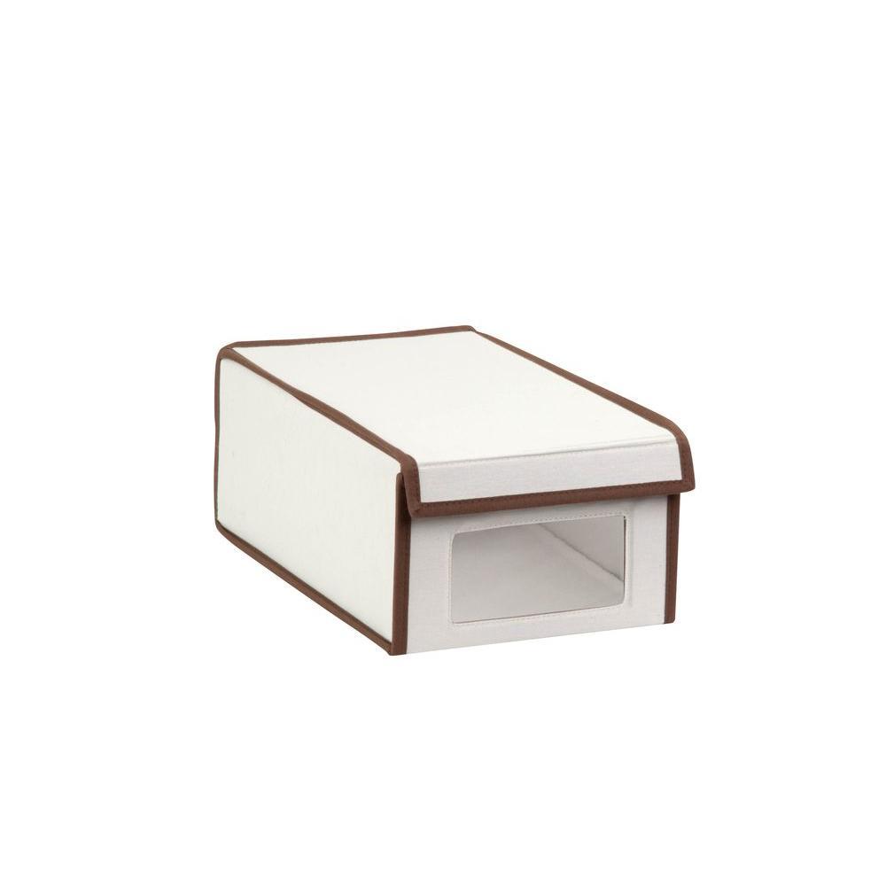 Medium Canvas Window Shoe Box in Natural