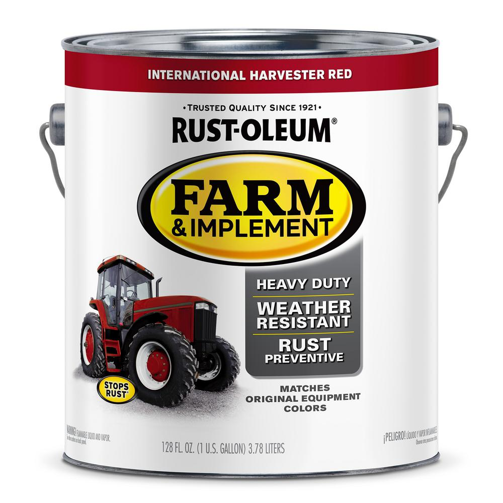 Rust Oleum 1 Gal Farm Implement International Harvester Red Gloss Enamel Paint 2 Pack 280167 The Home Depot