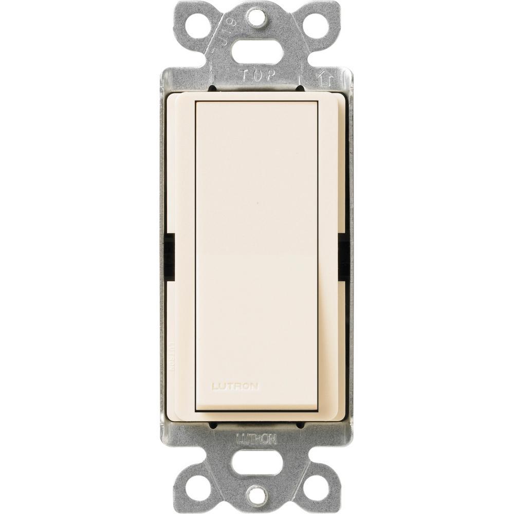 Claro 15 Amp Single-Pole Rocker Switch with Locator Light, Eggshell