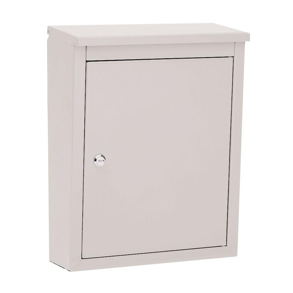 Soho Pearl Gray Wall-Mount Locking Mailbox