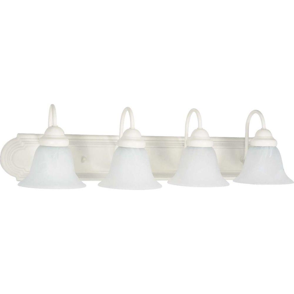 Thomas Lighting 4-Light Matte White Wall Vanity Light-SL74028 - The Home Depot
