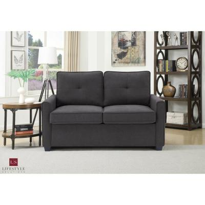 Agusta Twin Gray Loveseat With Pullout Bed