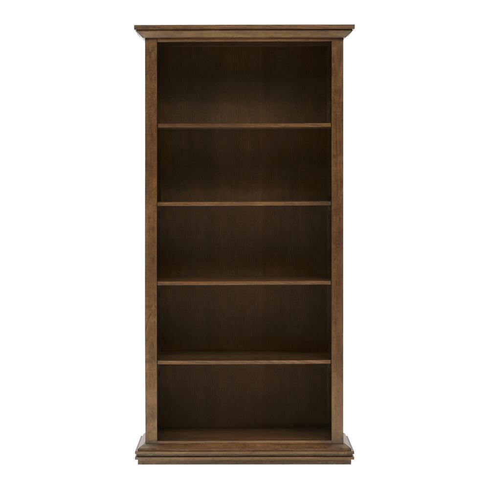 Eldridge 72 in. H Haze Color 5-Shelf Tall Standard Bookcase