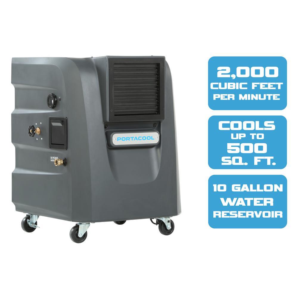 PORTACOOL Cyclone 120 2000 CFM 2-Sd Portable Evaporative ... on