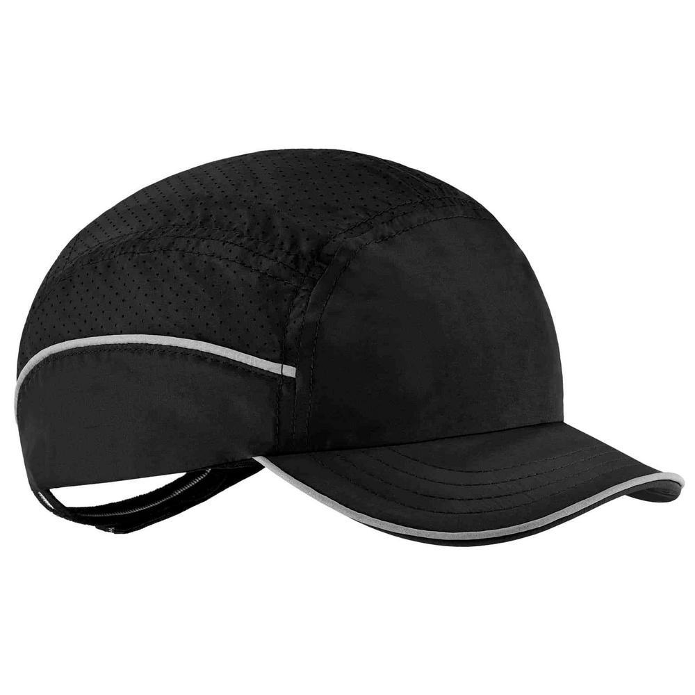 Skullerz 8955 Short Brim Black Lightweight Bump Cap Hat