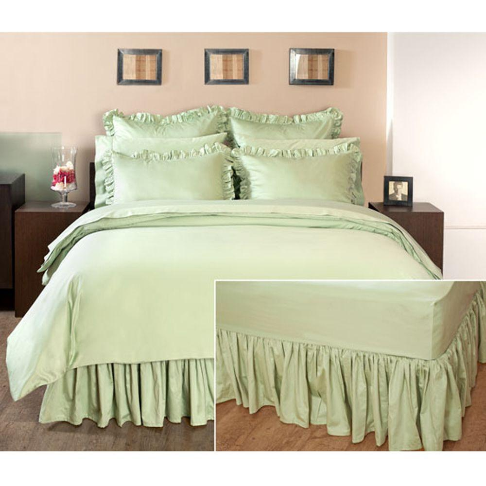 Home Decorators Collection Ruffled Cottage Hill King Bedskirt
