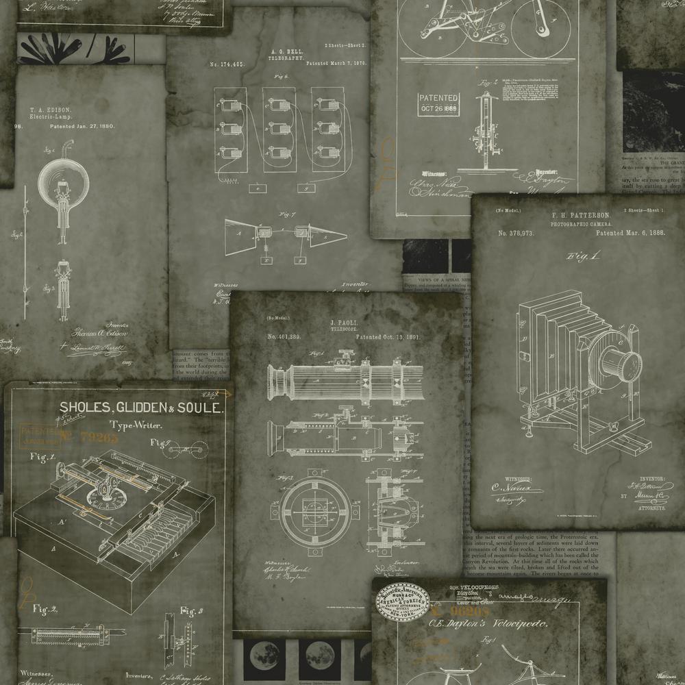 York Wallcoverings 56 sq. ft. Tailored Patent Pending Wallpaper HO3335