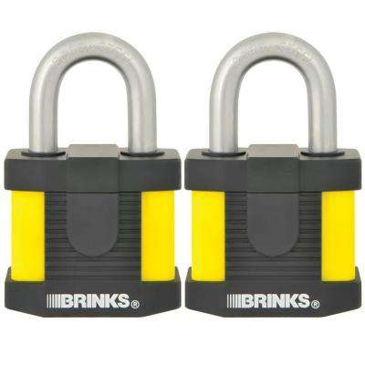 50 mm Laminated Steel Commercial Padlock with Weather Resistance (2-Pack)