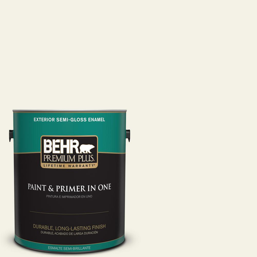 1-gal. #BXC-01 Resort White Semi-Gloss Enamel Exterior Paint