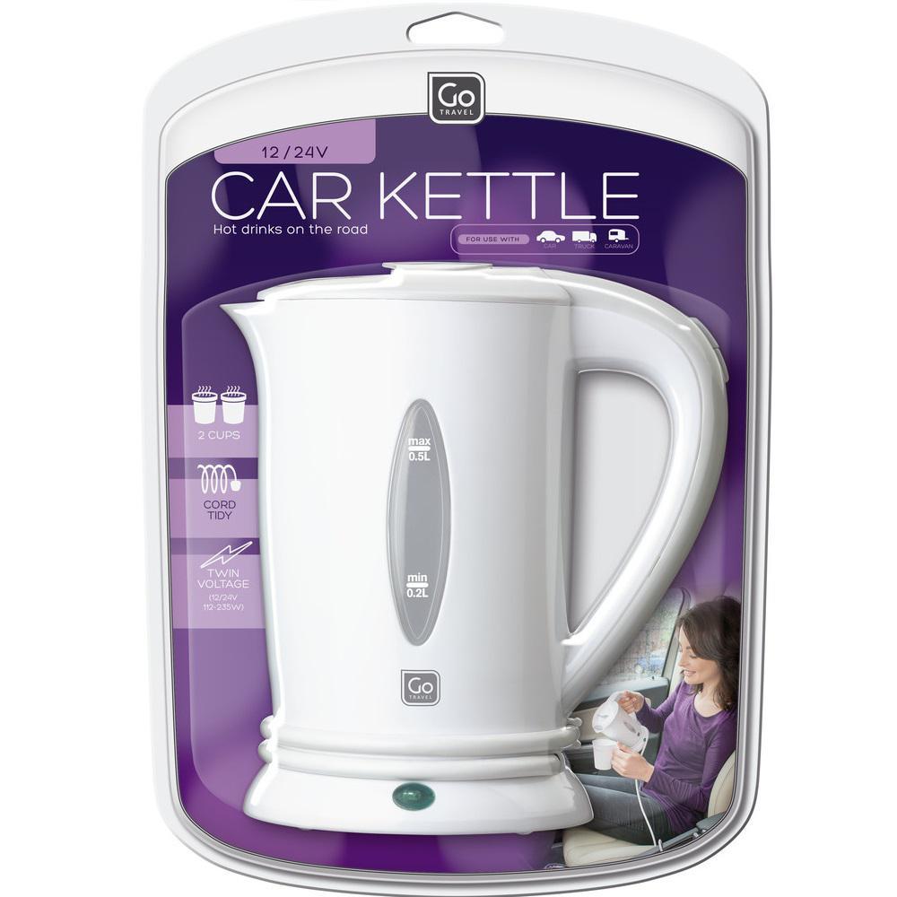 go travel 2 1 cup white car kettle 692 the home depot. Black Bedroom Furniture Sets. Home Design Ideas