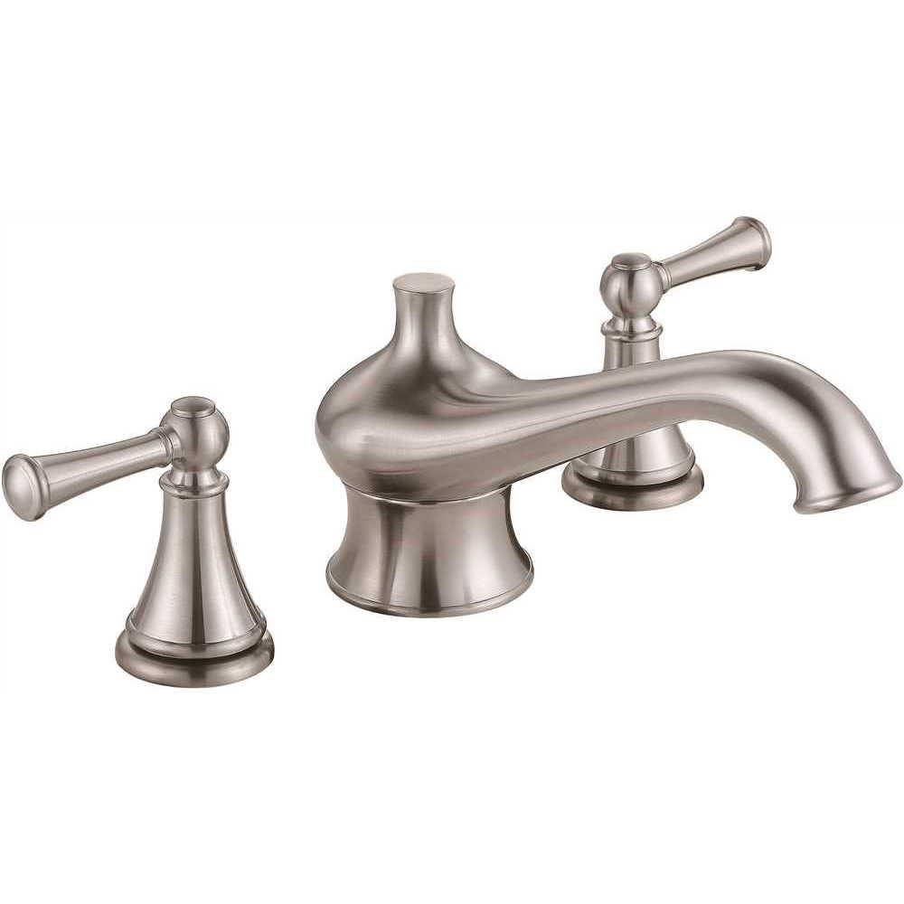 Premier Sonoma 2 Handle Deck Mount Roman Tub Faucet In Brushed Nickel