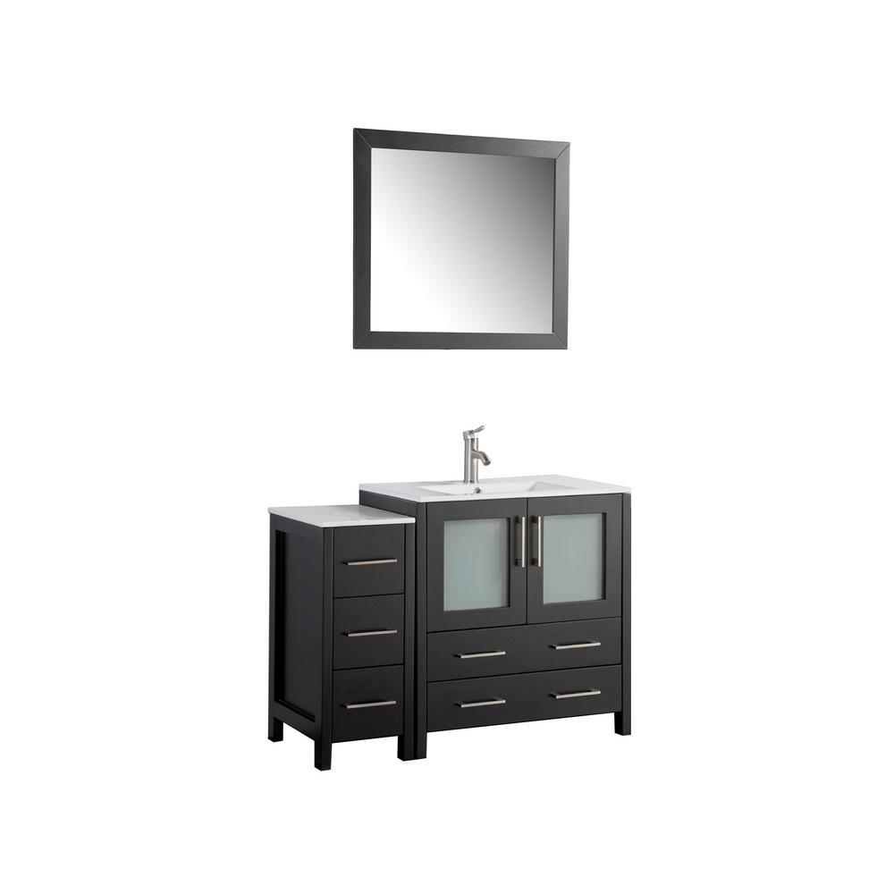 Vanity Art 42 in. W x 18 in. D x 36 in. H Bathroom Vanity ...