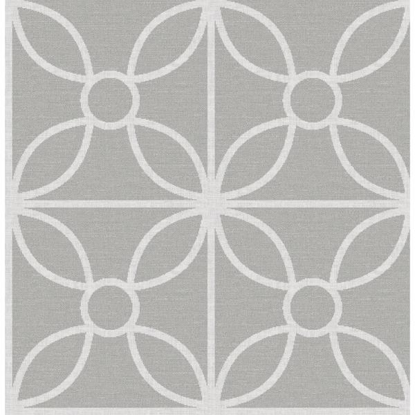 A-Street Savvy Grey Geometric Wallpaper 2716-23858