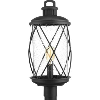 Hollingsworth Collection 1-Light Outdoor Black Post Lamp