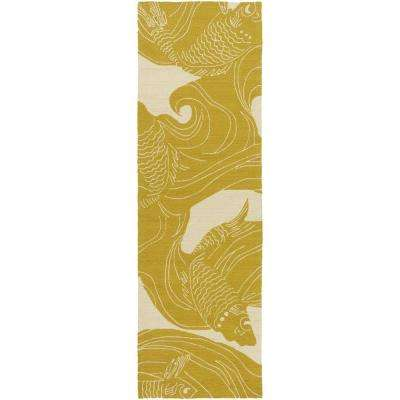 Kaweah Gold 3 ft. x 8 ft. Indoor/Outdoor Runner Rug