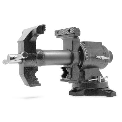 5 in. Heavy-Duty Cast Iron Multi-Purpose Bench Vise with 360-Degree Swivel Base