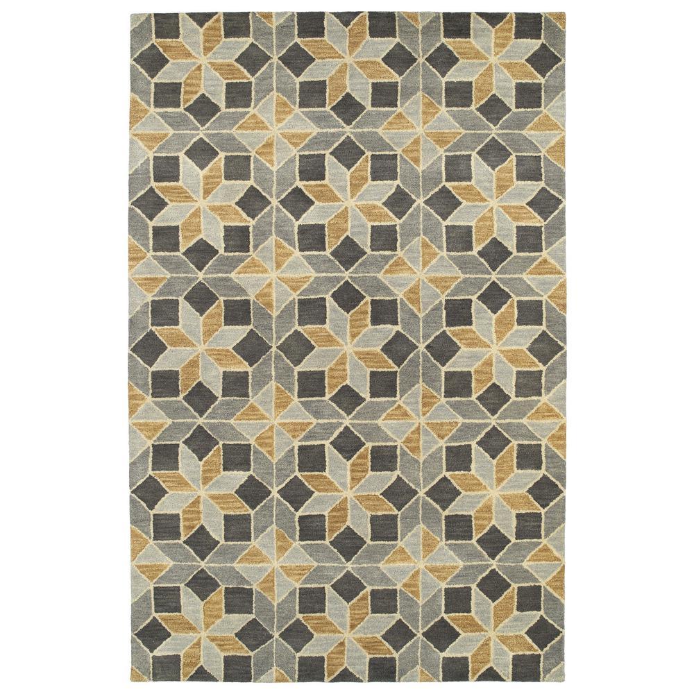 Art Tiles Grey 2 ft. x 3 ft. Area Rug