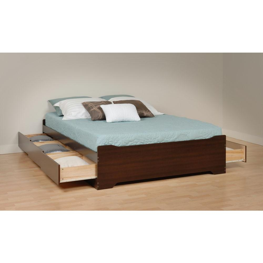 Prepac Coal Harbor Queen Wood Storage Bed Ebq 6200 3kv The Home Depot