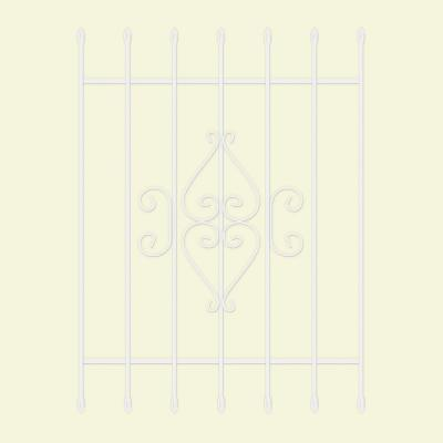 36 in. x 48 in. Su Casa White 7-Bar Window Guard