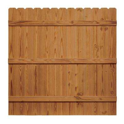 6 ft. x 6 ft. Pressure-Treated Cedar-Tone Moulded Wood Fence Panel
