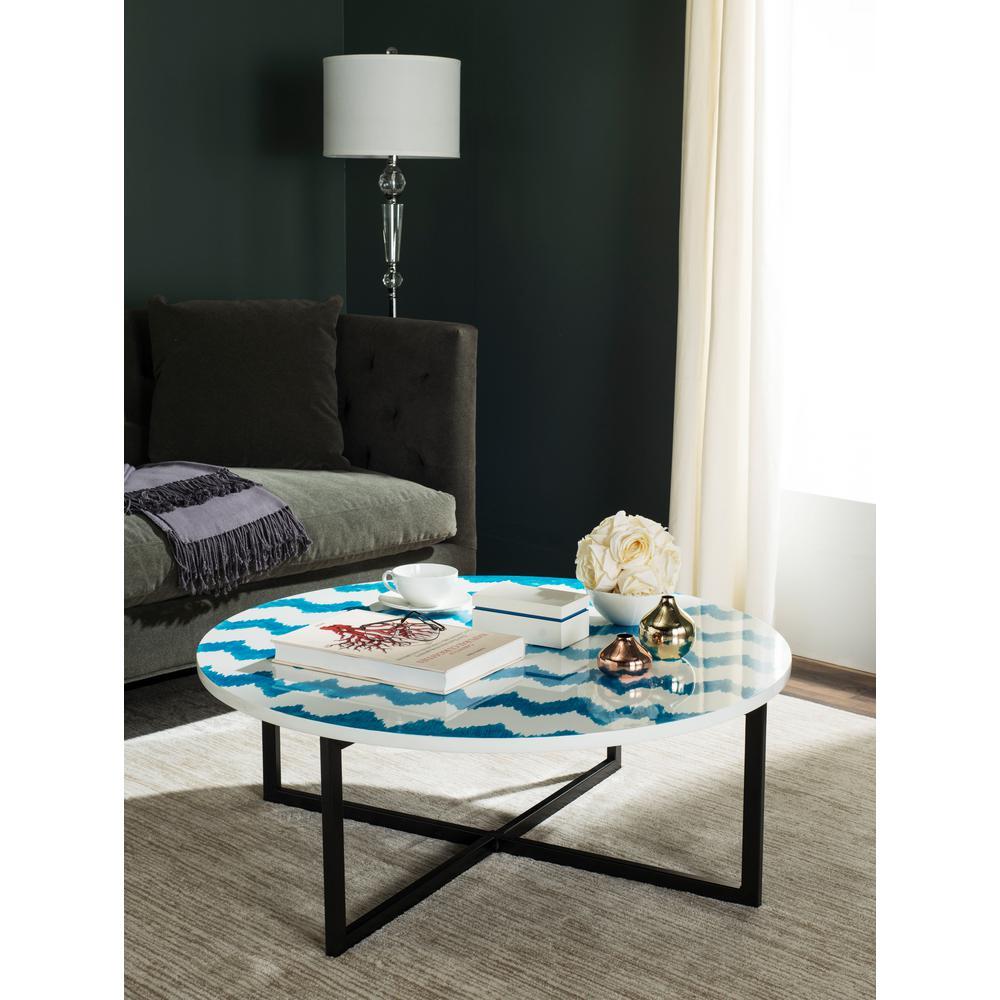 Safavieh Cheyenne Blue/White Coffee Table TRB1001A