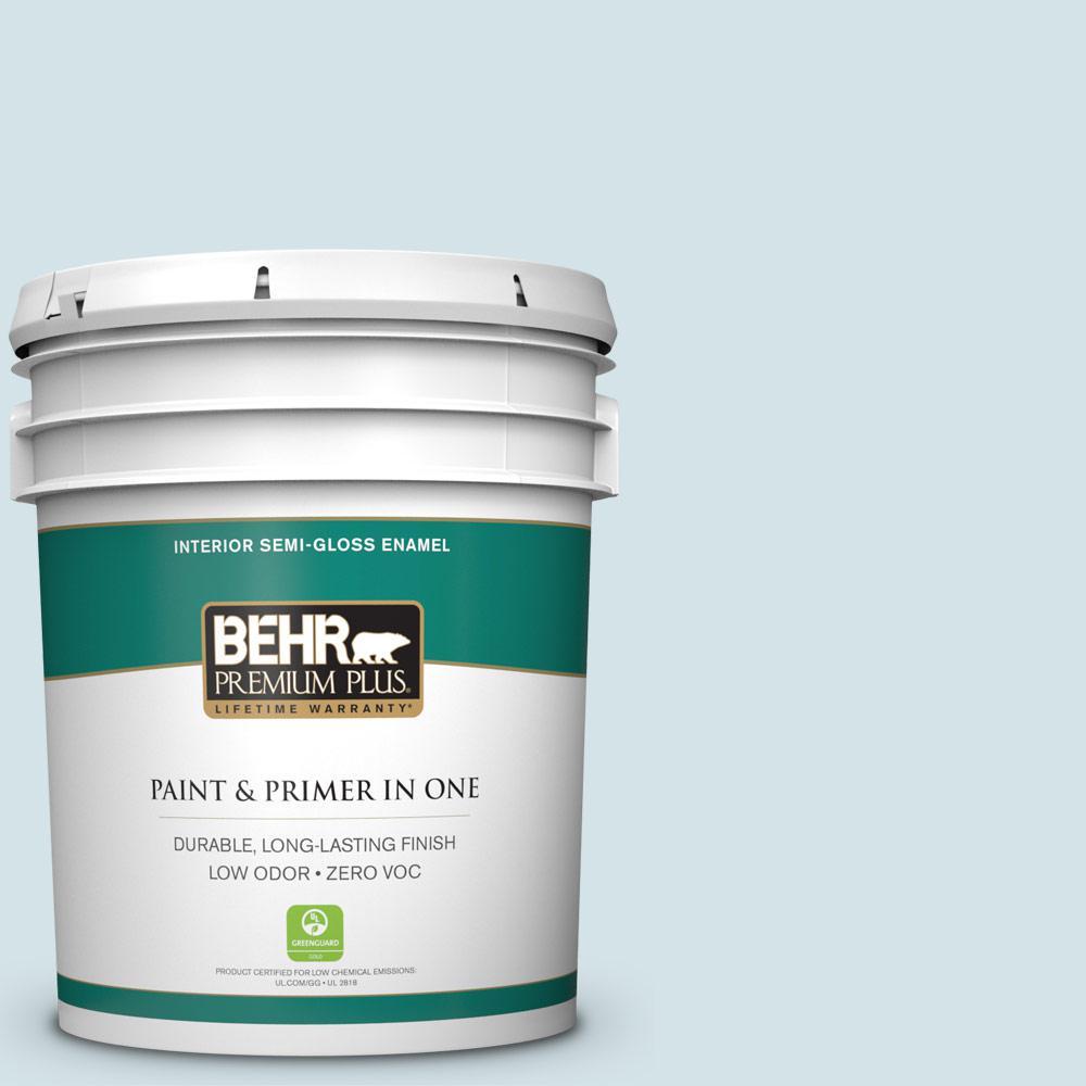 BEHR Premium Plus 5-gal. #PPL-72 Spa Retreat Zero VOC Semi-Gloss Enamel Interior Paint
