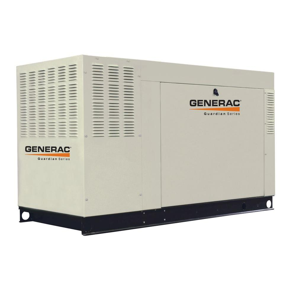Generac 60,000-Watt Liquid Cooled Standby Generator Steel Natural Gas