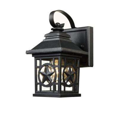 Texas Star Outdoor Black Wall Lantern
