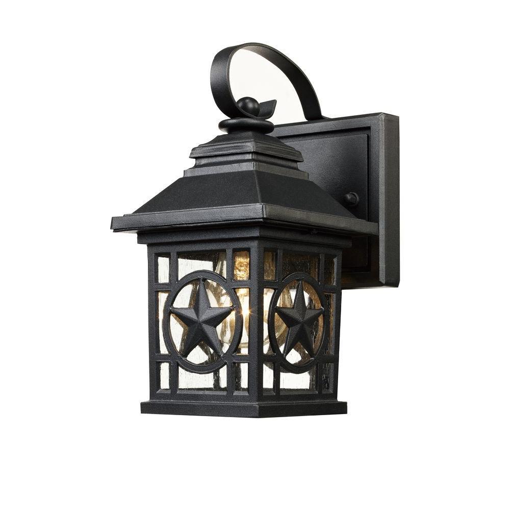 Texas Star Outdoor Black Wall Lantern