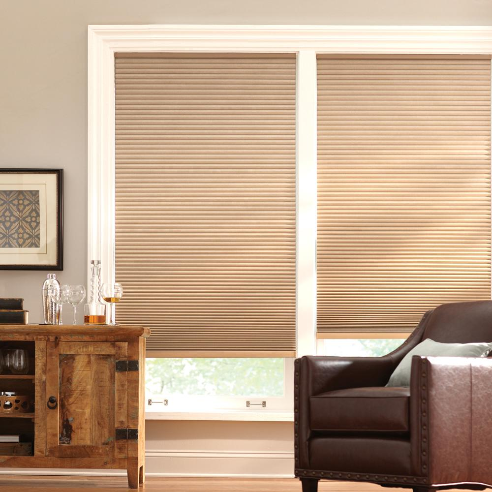 Home Decorators Collection 26 In W X 48 In L Latte Cordless Horizontal Cellular Blackout Shade
