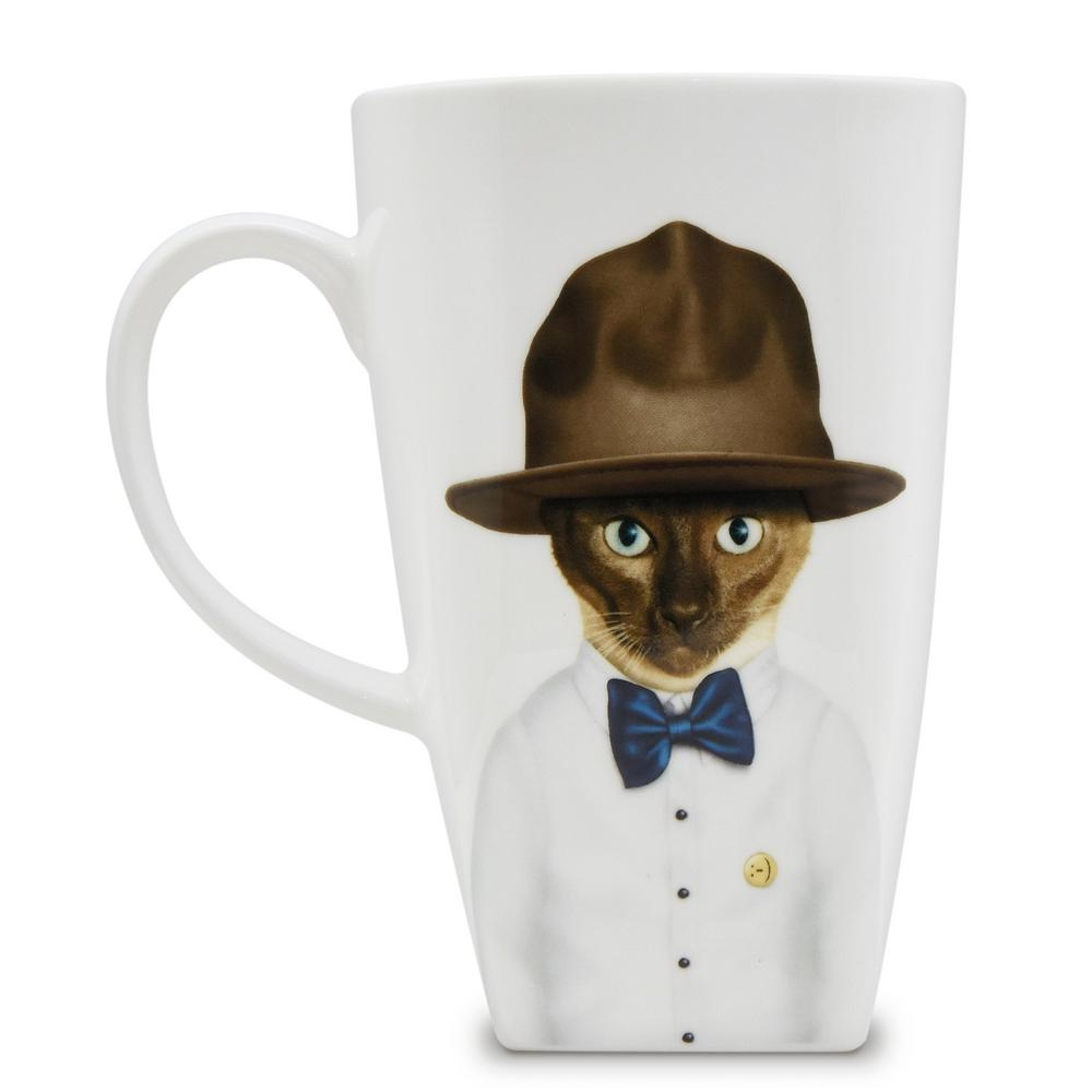 20 oz.  Purrell  Pets Rock Collectible Fine Bone China Mug, Purrell These Pets Rock fine bone china coffee mugs give you the option to see the adorable pets you love dressed as celebrities on your mugs. Available with a variety of furry creatures to fit any animal lovers desires. What better way to start your morning than with a cup of Joe and your adorable Pets Rock buddy. The porcelain is milky white in color, beautiful in shape and comfortable in your hand. Color: Purrell.