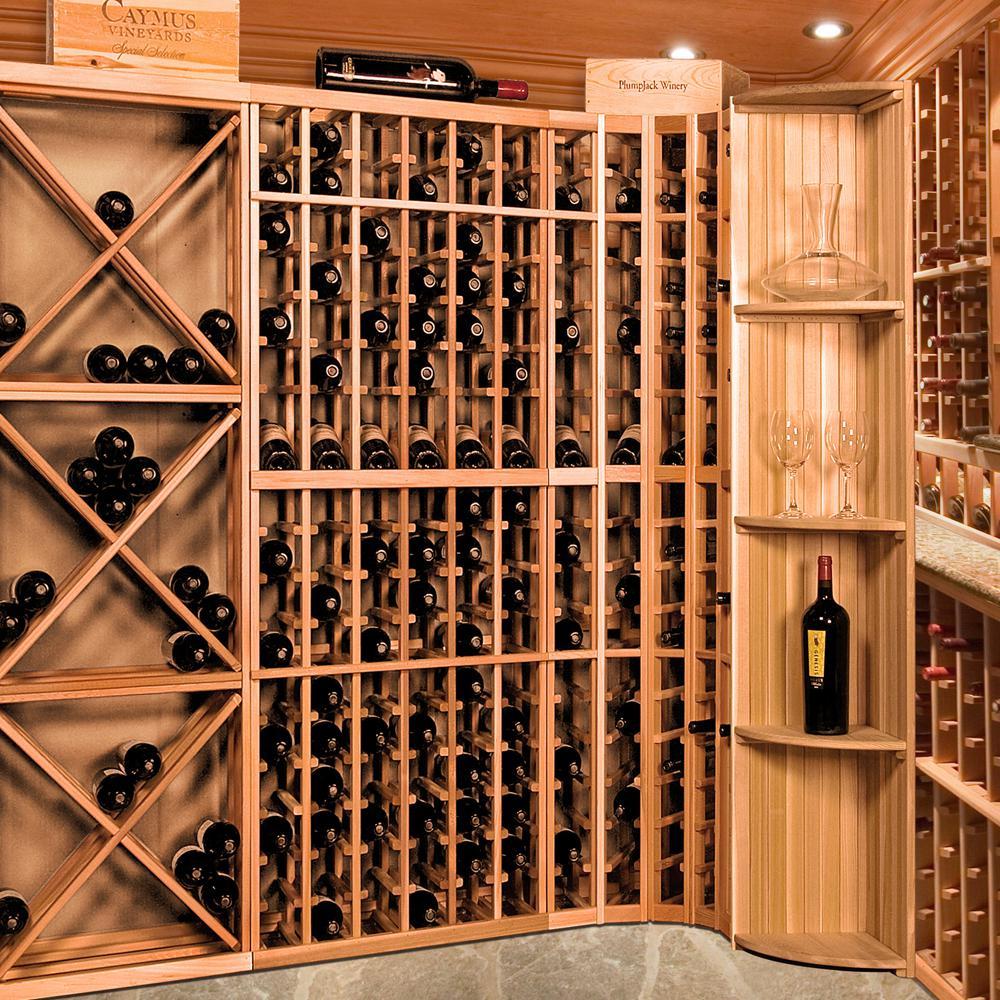19-Bottle Pine Floor Wine Rack