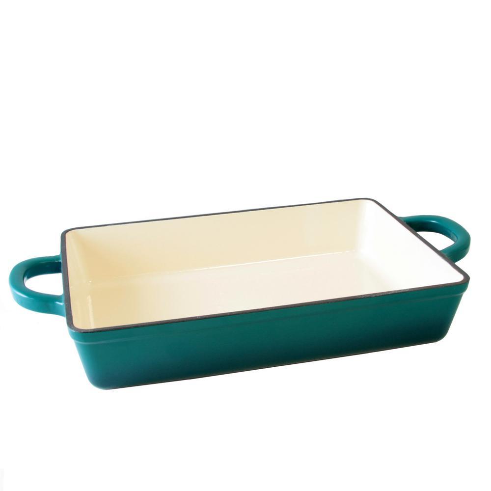 Crock-Pot Artisan 13 in. Rectangle Enameled Cast Iron Lasagna Pan