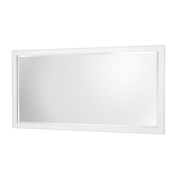 Home Decorators Collection 60 In W X 31 In H Framed Rectangular Beveled Edge Bathroom Vanity Mirror In White Gawm3160 The Home Depot