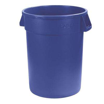 Bronco 32 Gal. Blue Round Trash Can (4-Pack)